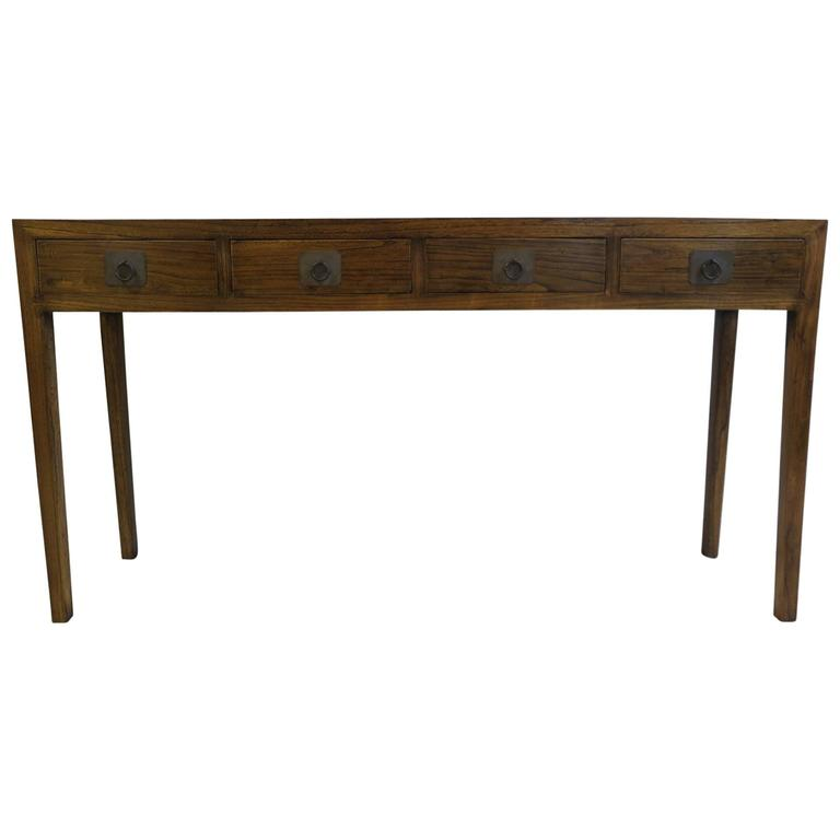 Four-Drawer Console Table