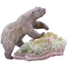 Douglas Van Howd: A Solid Silver Polar Bear on Quartz Base