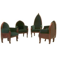 Set of Five Chairs for a Conference Room, Amsterdam School
