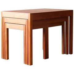 Hans Wegner AT17 Andreas Tuck Nesting Tables Danish Vintage Modern