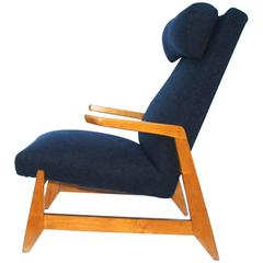 Very Rare Ralph Rapson High Back Lounge Chair for Knoll