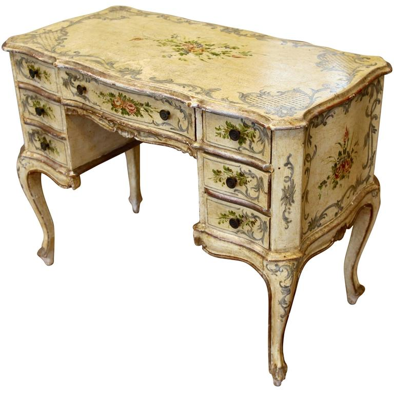 Early 20th Century Louis XV Style Italian Writing Desk or Dressing Table