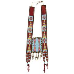 Classic Period Native American Martingale, Crow 'Plains Indian', circa 1870