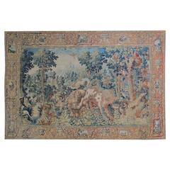Flemish Wild Park Tapestry Following the 'Pugnae Ferarum' Manner