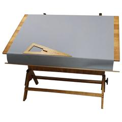 1940 Hamilton Drafting Table with Cloth Cover