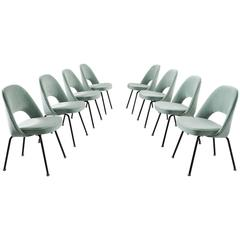Eero Saarinen Set of Eight Reupholstered Dining Chairs for Knoll International