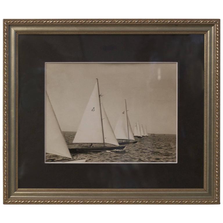 Original Press Photo of a Class Yachts in Race, circa 1935