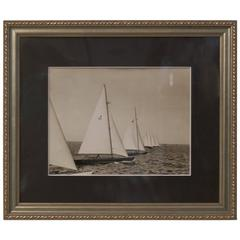 Original Press Photo of a Class Yachts in Race, circa 1935