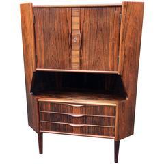 Danish Rosewood Corner Cupboard