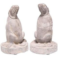 Pair of Mythical Stone Charms