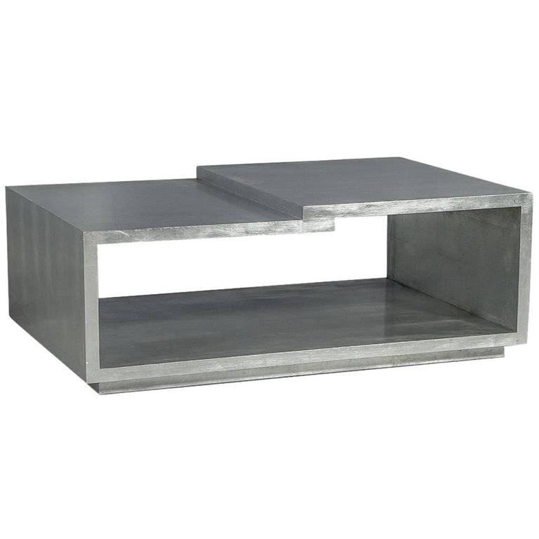 Modern Silver Leafed Cocktail Table 1