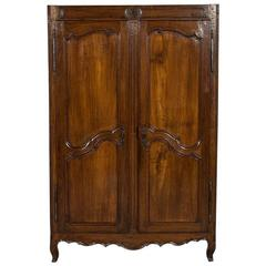 Antique Louis XV Armoire Front
