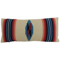 CLOSE OUT SALE: Vintage Petite Southwestern Woven Wool Decorative Lumbar Pillow