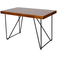 Luther Conover Walnut and Iron Side Table