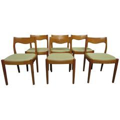 Elegant Danish Mid-Century Chairs in Teak, Set of Six
