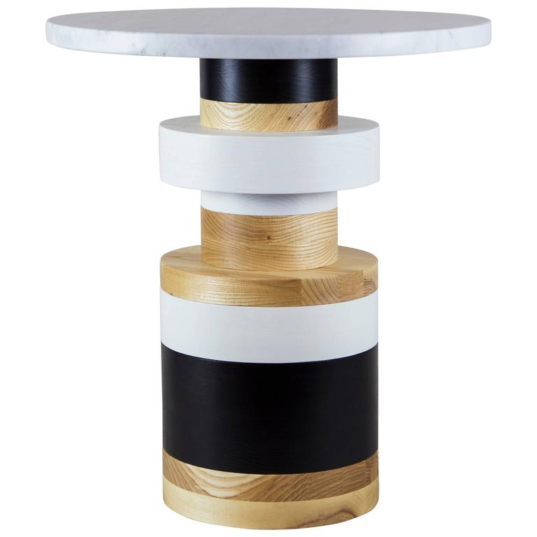 Medium Sass Side Table from Souda with Large Marble Top 1