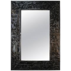 Mirror Frame Crafted from Reclaimed Painted Zinc