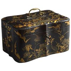 18th Century Chinese Export Black Lacquer Casket