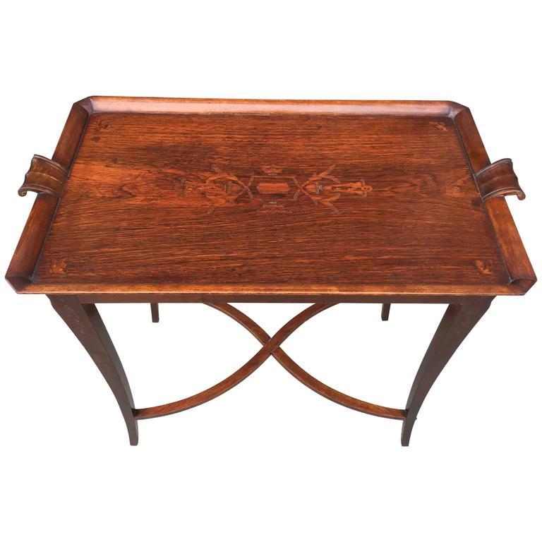 Carl Bergsten Swedish Grace Period Itarsia Occasional Table
