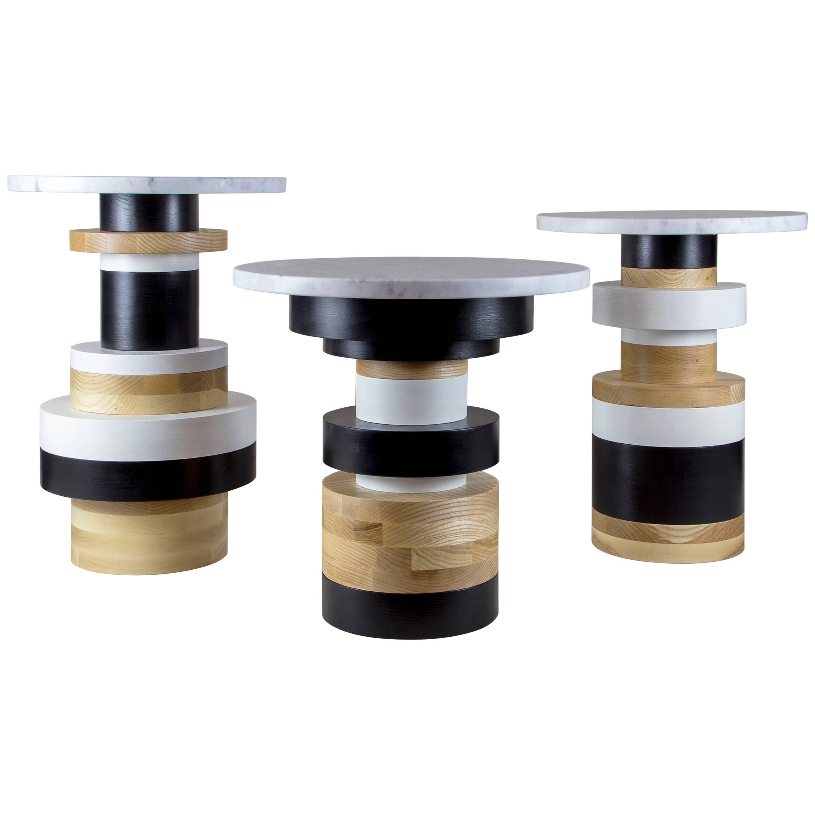 Customizable Sass Side Tables from Souda, Set of Three, Made to Order