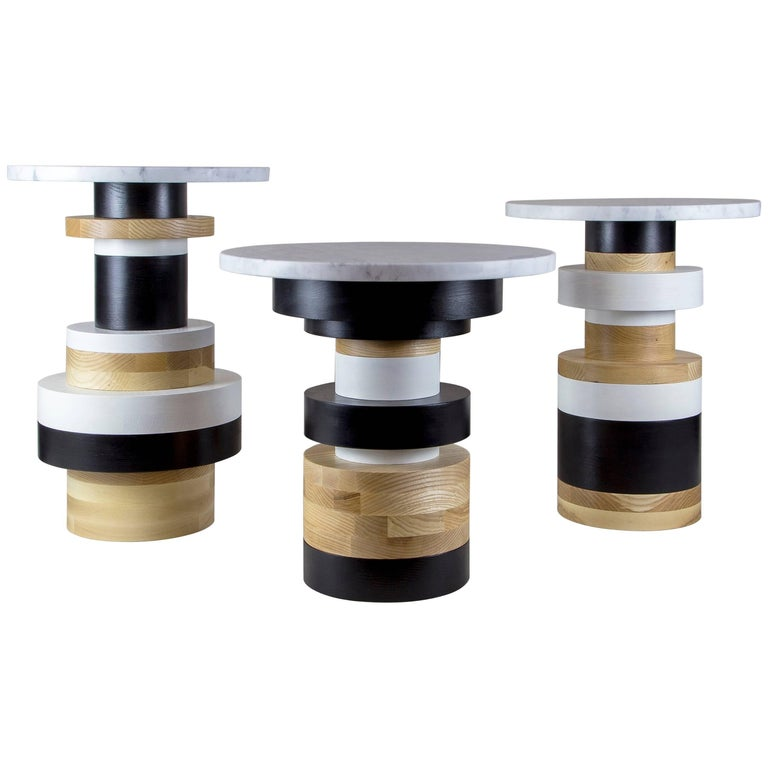 Customizable Sass Side Tables from Souda, Set of Three, Made to Order For Sale