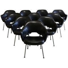 Set of Ten Eero Saarinen for Knoll Executive Armchairs