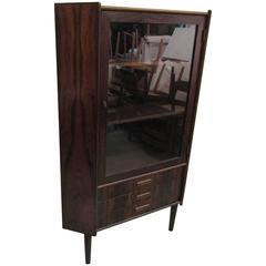 Stunning Rosewood Corner Cabinet from Denmark