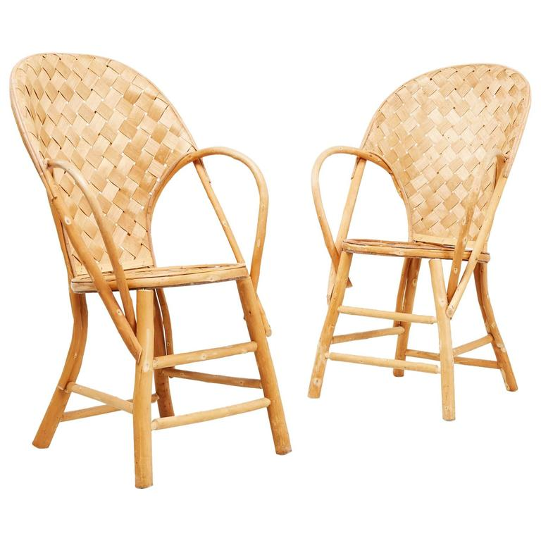 Wicker Handmade Le Corbusier Chairs For Sale