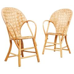 Wicker Handmade Le Corbusier Chairs