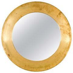 Mid-20th Century Brass Mirror by Glas Master Markaryd Sweden