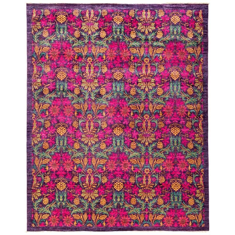 Pink Eclectic Area Rug, Solo Rugs For Sale At 1stdibs