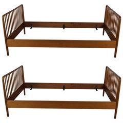 Pair of Danish Modern Twin Beds