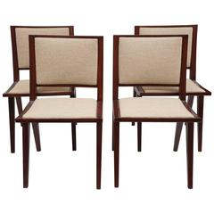 Set of Four Mid-Century Side Chairs, Style of Pierre Jeanneret, circa 1960