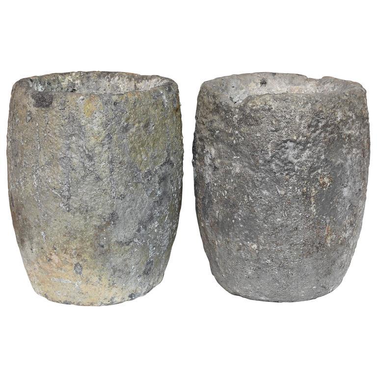 Vintage Foundry Aluminium Ceramic Foundry Crucibles