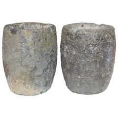 Vintage Foundry Aluminium Ceramic Foundry Crucibles