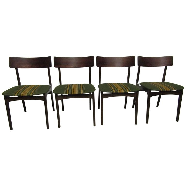 Solid Rosewood Dining Chairs Made in Denmark, Set of Four