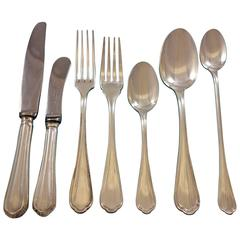 Spatours by Christofle France Silverplate Flatware Set for Eight Service 57 Pcs