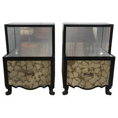 Pair of Mirrored End Tables