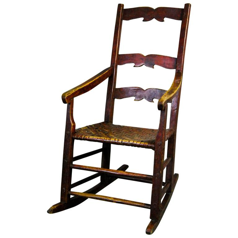 19th Century Canadian Primitive Rocking Chair At 1stdibs