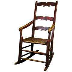 19th Century Canadian Primitive Rocking Chair