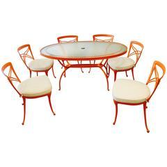 Brown Jordan Mid-Century Modern Aluminium Patio Dining Set