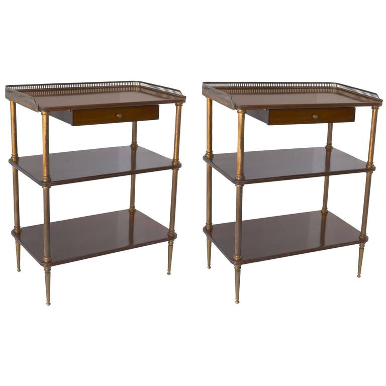 Pair of 1940s French Side Tables For Sale