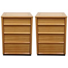 Pair of Three-Drawer Wormley Side Tables for Dunbar, Precedent Line
