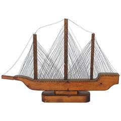 1900s Folk Art Ship Model