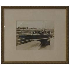 Authentic Press Photo Endeavour, circa 1934