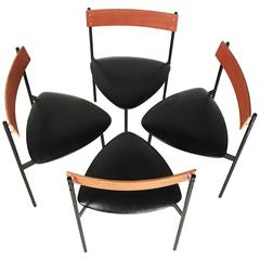 Set of Four Modernist Dining Chairs by Rego Moderne Möbel