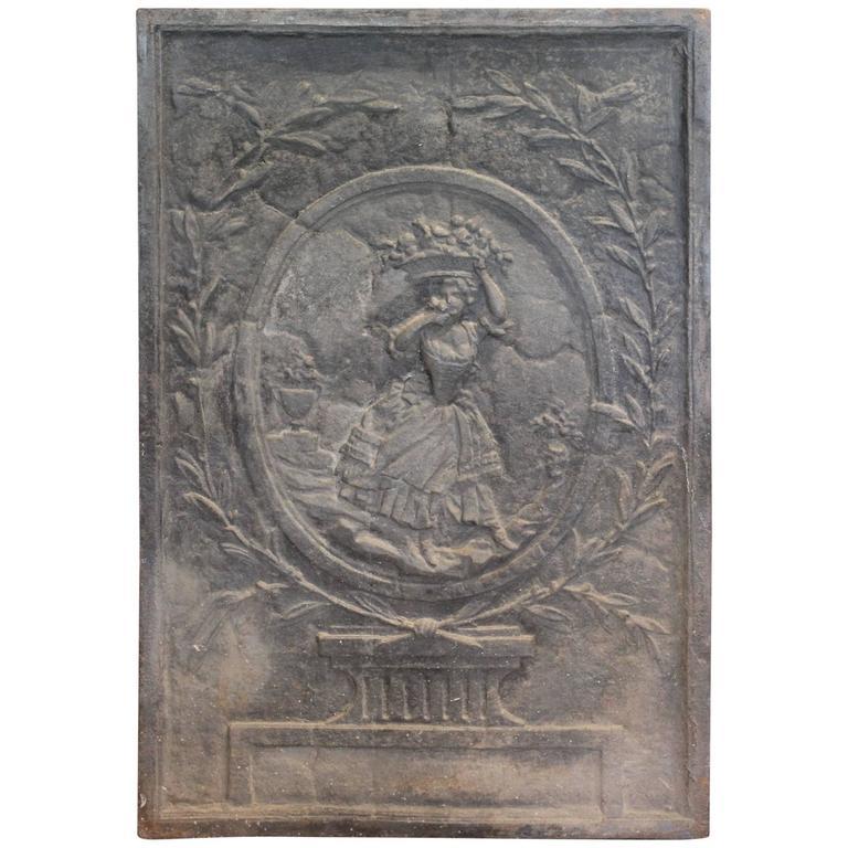 Fireplace Design antique fireplace screen : Antique French Iron Fireplace Screen Plaque at 1stdibs