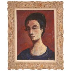 Germaine Verna Double Sided Oil Painting