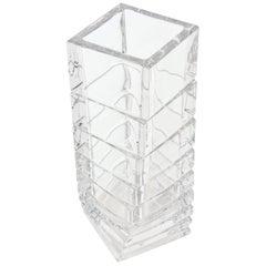 Rosenthal Gedrehte Skulptur Glas Säulen Vase Mitte des Jahrhundert