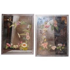 Pair of Decopage Mirrors